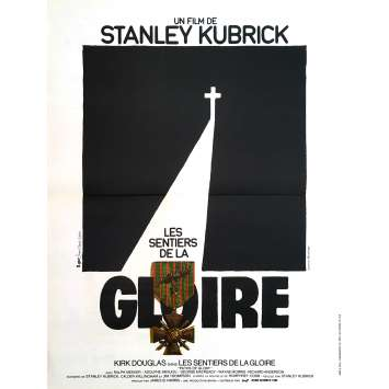 PATH OF GLORY Original Movie Poster - 15x21 in. - 1975 - Stanley Kubrick, Kirk Douglas