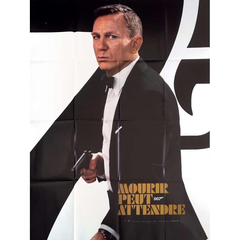 MOURIR PEUT ATTENDRE Affiche de film Prev. - 120x160 cm. - 2021 - Daniel Craig, Cary Joji Fukunaga