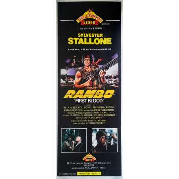 RAMBO - FIRST BLOOD Original Video Poster - 23x63 in. - 1983 - Ted Kotcheff, Sylvester Stallone