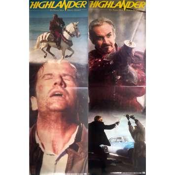 HIGHLANDER Original Movie Poster lot - 23x71 in. - 1985 - Russel Mulcahy, Christophe Lambert