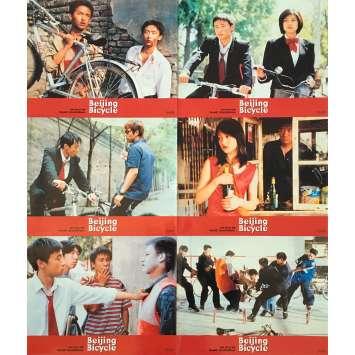 BEIJING BICYCLE Original Lobby Cards x6 - 9x12 in. - 2001 - Xiaoshuai Wang, Lin Cui, Xun Zhou