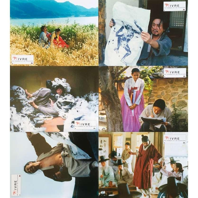 STROKES OF FIRE Original Lobby Cards x6 - 9x12 in. - 2002 - Kwon-taek Im, Min-sik Choi