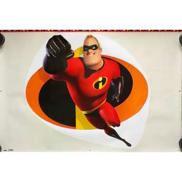 THE INCREDIBLES Original Promo Stickers x7 - 23x32 in. - 2004 - Brad Bird, Craig T. Nelson
