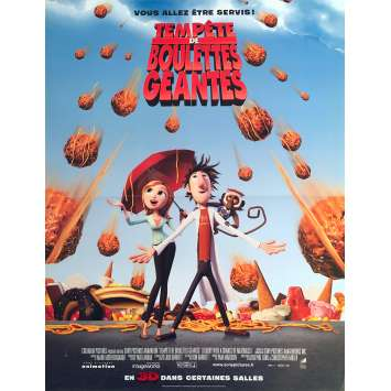 CLOUDY WITH A CHANCE OF MEATBALLS Original Movie Poster - 15x21 in. - 2009 - Phil Lord, Christopher Miller, Bill Hader
