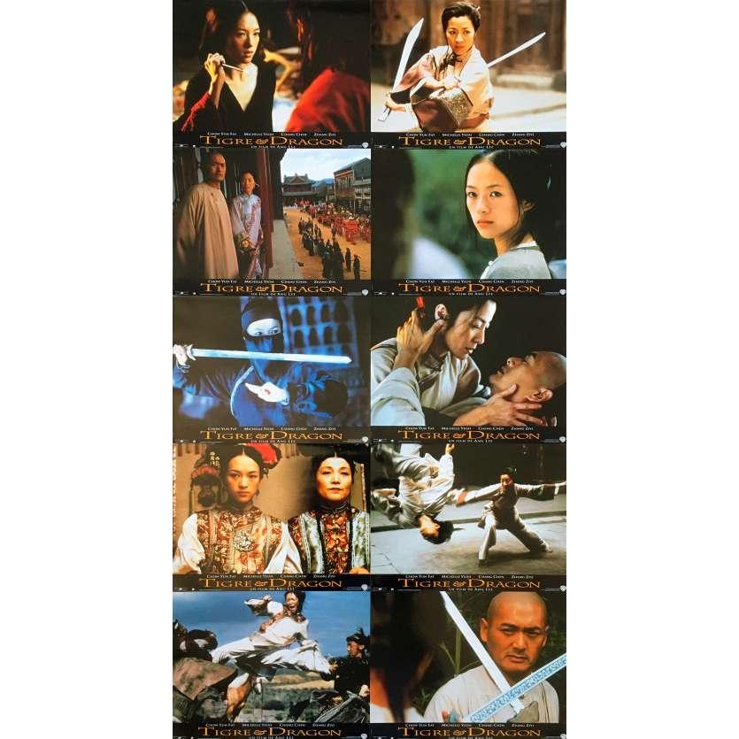 CROUCHING TIGER HIDDEN DRAGON Original Lobby Cards x10 - 9x12 in. - 2000 - Ang Lee, Chow Yun Fat