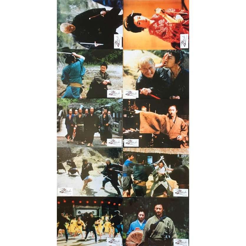 ZATOICHI Photos de film x10 - 21x30 cm. - 2003 - Tadanobu Asano, Takeshi Kitano