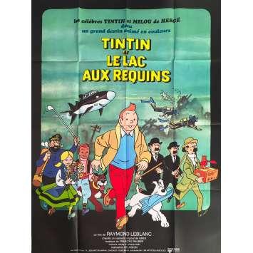 TINTIN AND THE LAKE OF SHARKS Original Movie Poster - 47x63 in. - 1972 - Raymond Leblanc, Jacques Balutin