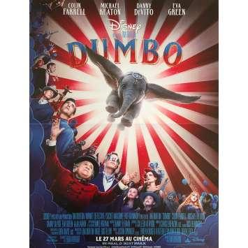 DUMBO (film) Affiche de film - 40x60 cm. - 2019 - Colin Farrell, Michael Keaton, Tim Burton