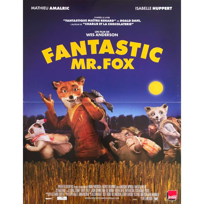 FANTASTIC MR FOX Original Movie Poster - 15x21 in. - 2009 - Wes Anderson, George Clooney
