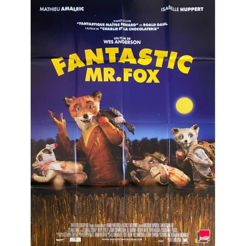 FANTASTIC MR FOX Original Movie Poster - 47x63 in. - 2009 - Wes Anderson, George Clooney
