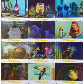 SHARK TALE Original Lobby Cards x12 - 9x12 in. - 2004 - Bibo Bergeron, Will Smith