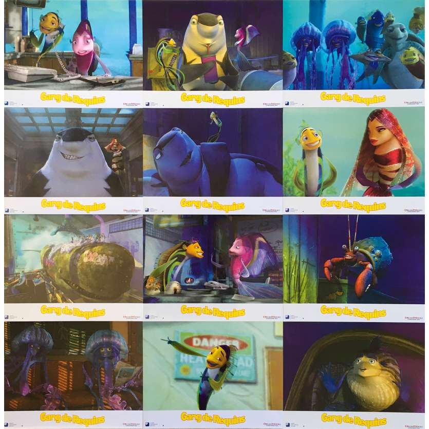 SHARK TALE Original Lobby Cards x12 - 9x12 in. - 2004 - Bibo Bergeron, Will Smith