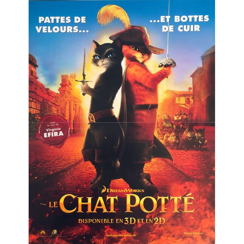 PUSS IN BOOTS Original Movie Poster - 15x21 in. - 2011 - Chris Miller, Antonio Banderas