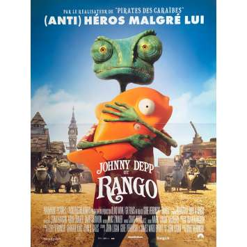 RANGO Affiche de film - 40x60 cm. - 2011 - Johnny Depp, Gore Verbinski
