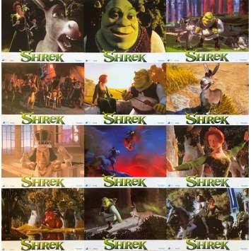 SHREK Original Lobby Cards x12 - 9x12 in. - 2001 - Andrew Adamson, Mike Myers