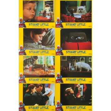 STUART LITTLE Original Lobby Cards x8 - 9x12 in. - 1999 - Rob Minkoff, Michael J. Fox