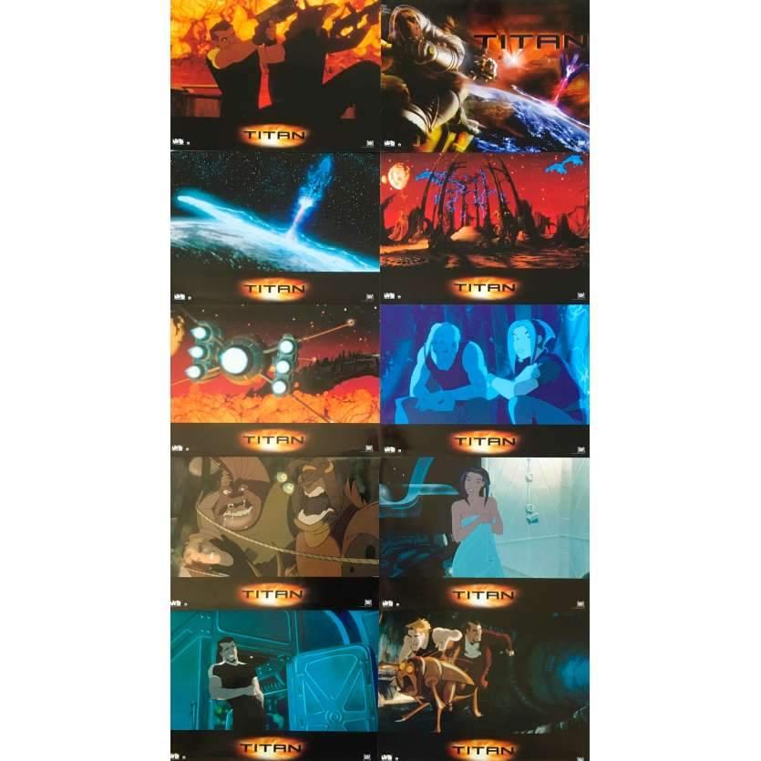 TITAN AE Photos de film x10 - 21x30 cm. - 2000 - Matt Damon, Don Bluth, Gary Goldman