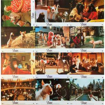 BABE Original Lobby Cards x12 - 9x12 in. - 1995 - Chris Noonan, James Cromwell