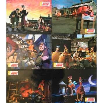 CHICKEN RUN Original Lobby Cards x6 - 9x12 in. - 2000 - Peter Lord, Nick Park, Mel Gibson