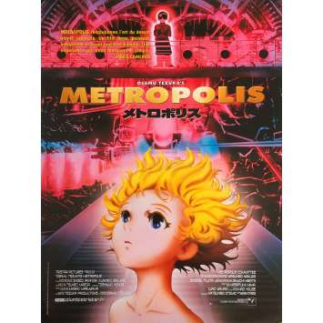 METROPOLIS Anime Original Movie Poster - 15x21 in. - 2001 - Rintaro, Toshio Furukawa