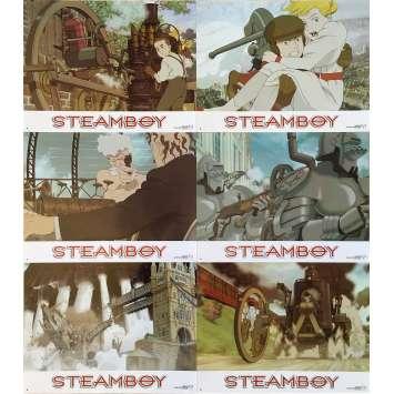 STEAMBOY Original Lobby Cards x6 - 9x12 in. - 2004 - Katsuhiro Ōtomo, Anne Suzuki