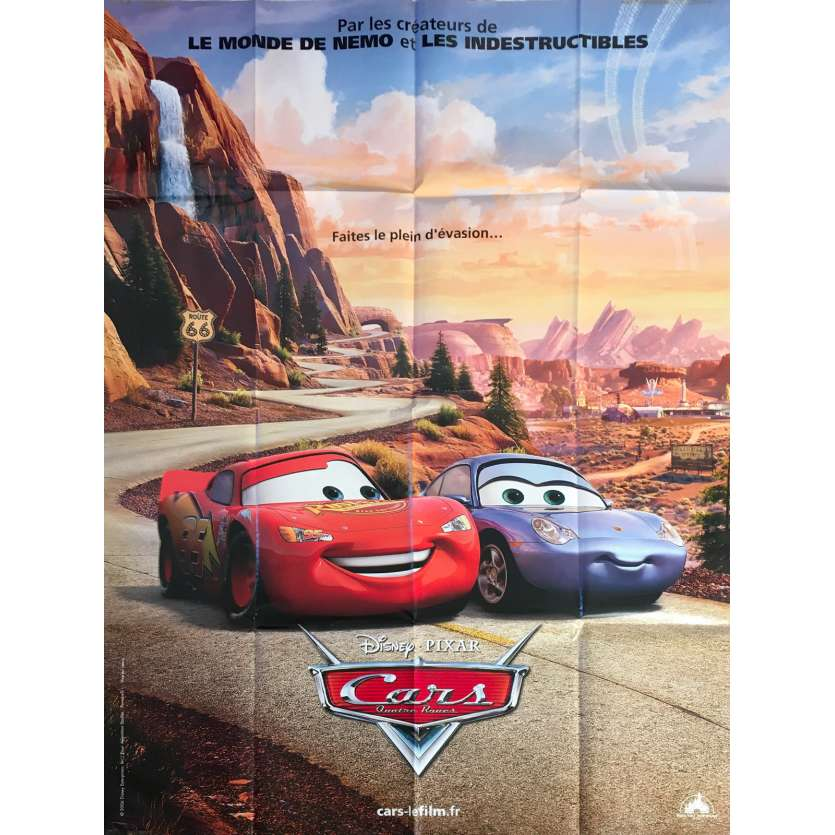 CARS Original Movie Poster - 47x63 in. - 2006 - John Lasseter, Owen Wilson