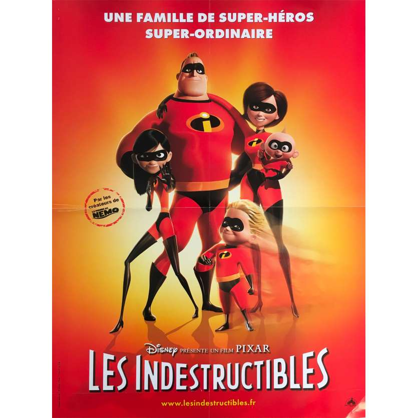 THE INCREDIBLES Original Movie Poster - 15x21 in. - 2004 - Brad Bird, Craig T. Nelson