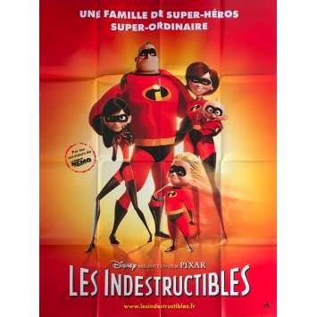 THE INCREDIBLES Original Movie Poster - 47x63 in. - 2004 - Brad Bird, Craig T. Nelson
