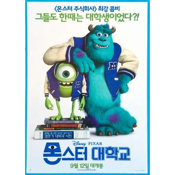 MONSTERS INC Original Movie Poster - 7,5x9,5 in. - 2001 - Pixar, John Goodman