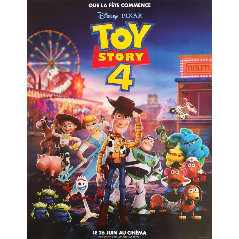 TOY STORY 4 Affiche de film - 40x60 cm. - 2019 - Tom Hanks, Josh Cooley
