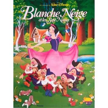 BLANCHE NEIGE ET LES SEPT NAINS Affiche de film - 40x60 cm. - R1980 - Walt Disney, Walt Disney