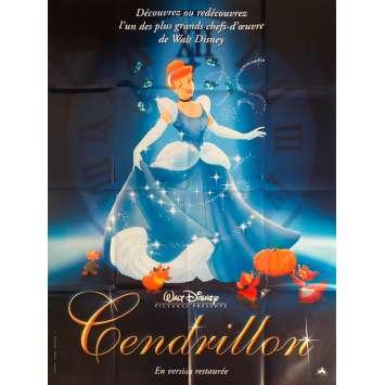 CENDRILLON Affiche de film - 120x160 cm. - R1990 - Ilien Woods, Walt Disney