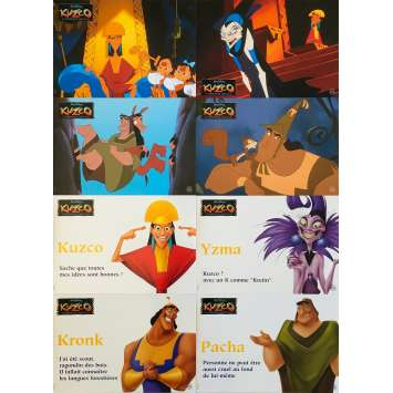 KUZCO, THE EMPEROR'S NEW GROOVE Original Lobby Cards x8 - 9x12 in. - 2000 - Mark Dindal, David Spade