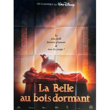 LA BELLE AU BOIS DORMANT Affiche de film - 120x160 cm. - R1990 - Mary Costa, Walt Disney