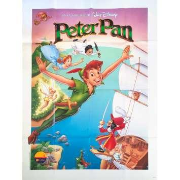 PETER PAN Original Movie Poster - 47x63 in. - R1980 - Walt Disney, Bobby Driscoll
