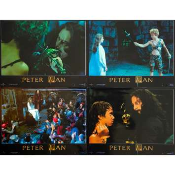 PETER PAN THE MOVIE Original Lobby Cards x4 - 9x12 in. - 2003 - P.J. Hogan, Jeremy Sumpter