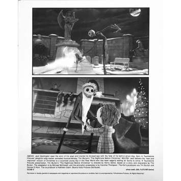 THE NIGHTMARE BEFORE CHRISTMAS Original Lobby Card NCBB-6 - 8x10 in. - 1993 - Tim Burton, Danny Elfman