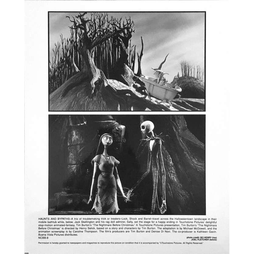THE NIGHTMARE BEFORE CHRISTMAS Original Lobby Card NCBB-8 - 8x10 in. - 1993 - Tim Burton, Danny Elfman
