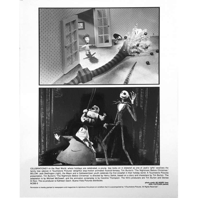 L'ETRANGE NOEL DE MONSIEUR JACK Photo de film NCBB-5 - 20x25 cm. - 1993 - Danny Elfman, Tim Burton