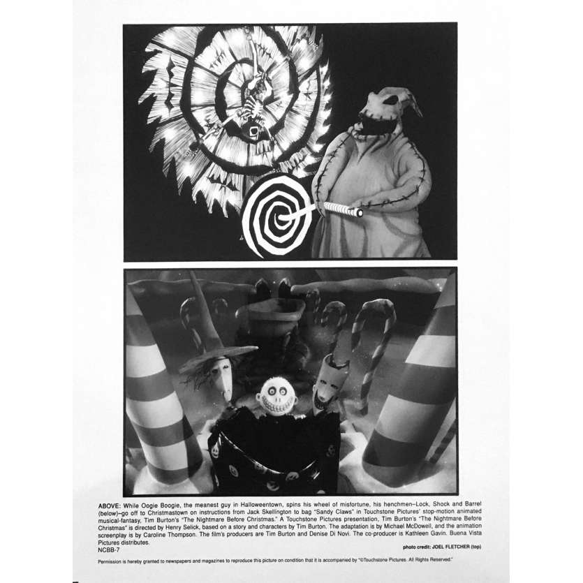 L'ETRANGE NOEL DE MONSIEUR JACK Photo de film NCBB-7 - 20x25 cm. - 1993 - Danny Elfman, Tim Burton