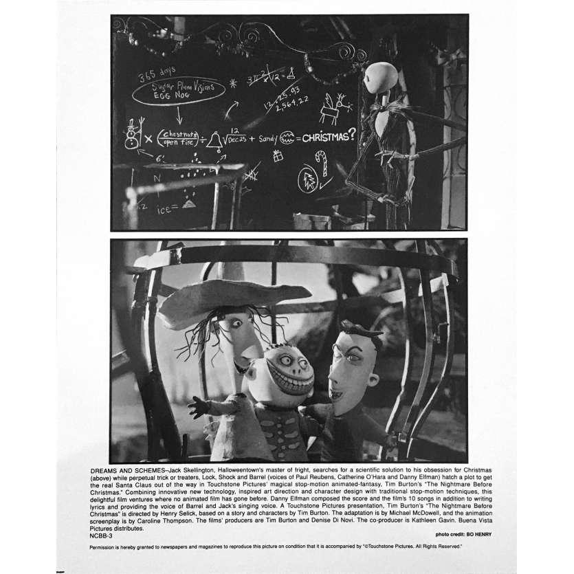 L'ETRANGE NOEL DE MONSIEUR JACK Photo de film NCBB-3 - 20x25 cm. - 1993 - Danny Elfman, Tim Burton