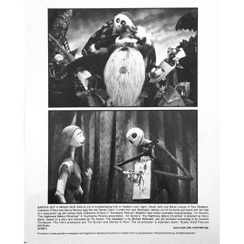 THE NIGHTMARE BEFORE CHRISTMAS Original Lobby Card NCBB-4 - 8x10 in. - 1993 - Tim Burton, Danny Elfman