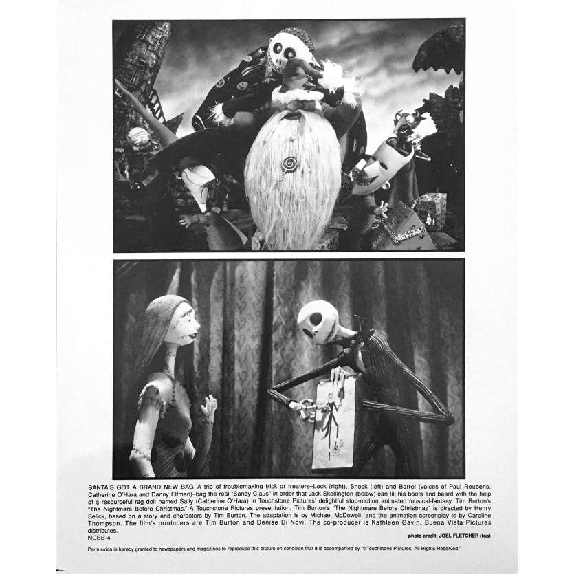 THE NIGHTMARE BEFORE CHRISTMAS Original Lobby Card NCBB-4 - 8x10 in. - 1993 - Tim Burton, Danny Elfman
