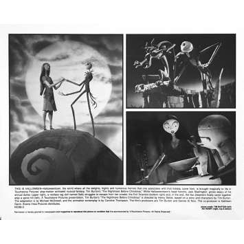 THE NIGHTMARE BEFORE CHRISTMAS Original Lobby Card NCBB-2 - 8x10 in. - 1993 - Tim Burton, Danny Elfman