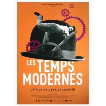 MODERN TIMES Original Movie Poster - 15x21 in. - R2020 - Charles Chaplin, Paulette Goddard,