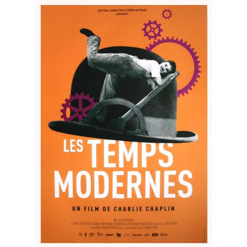 LES TEMPS MODERNES Affiche de film - 40x60 cm. - R2020 - Paulette Goddard,, Charles Chaplin