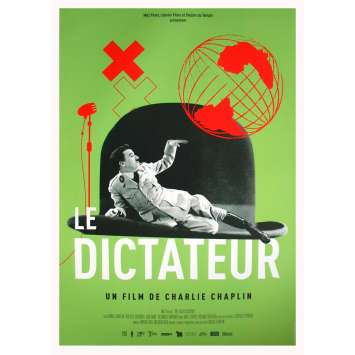 THE GREAT DICTATOR Original Movie Poster - 15x21 in. - R2020 - Charles Chaplin, Paulette Goddard