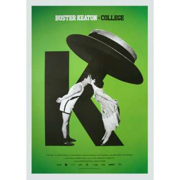 COLLEGE Original Movie Poster - 15x21 in. - R2020 - James W. Horne, Buster Keaton