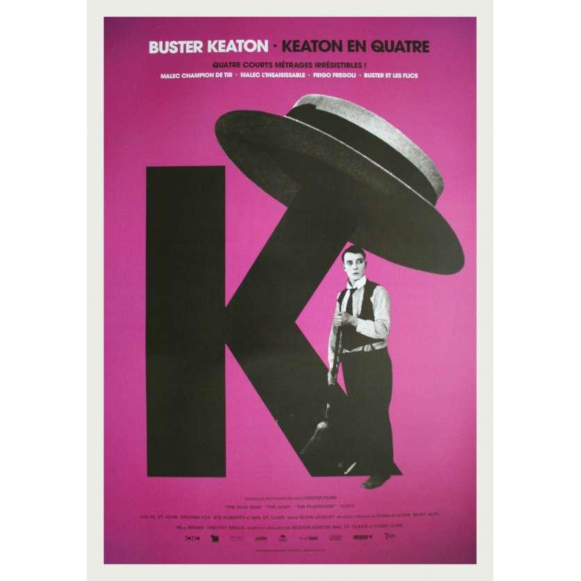 KEATON EN QUATRE Affiche de film - 40x60 cm. - R2020 - Bartine Burkett, Buster Keaton