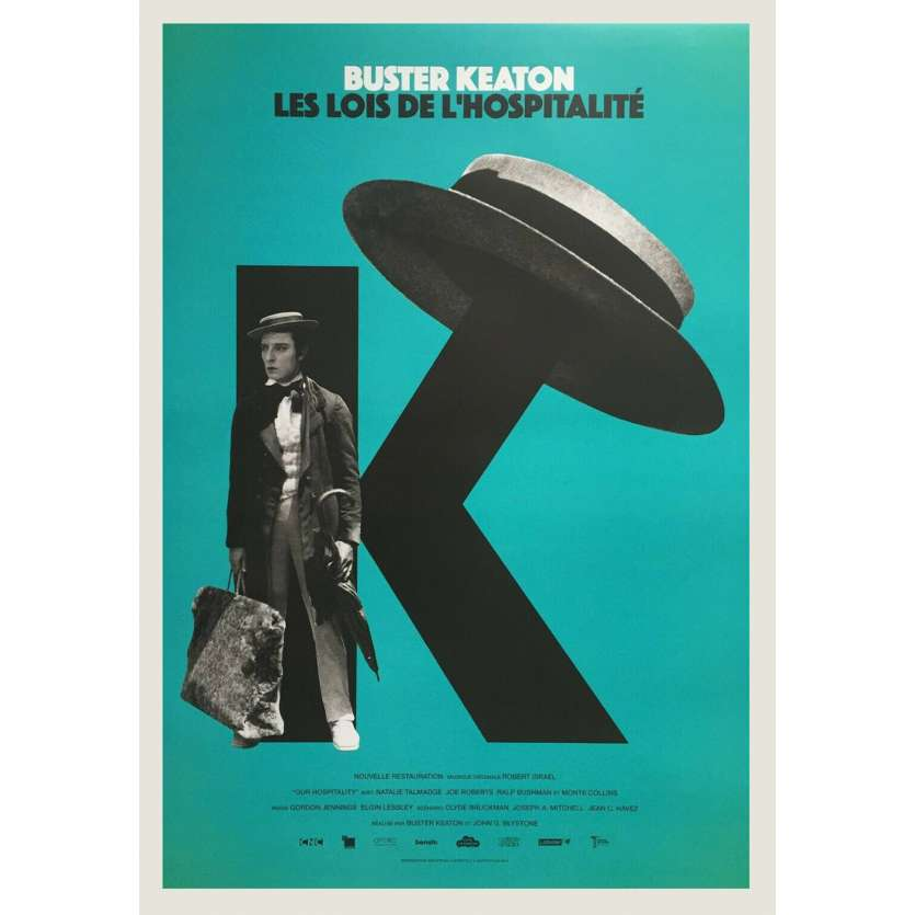 OUR HOSPITALITY Original Movie Poster - 15x21 in. - R2020 - Buster Keaton, Natalie Talmadge